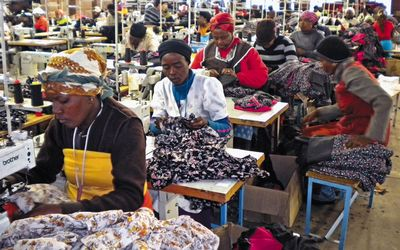 Female workers in a clothing factory in Newcastle, Kwa-Zulu Natal, South Africa Photo retrieved from: Financial Mail