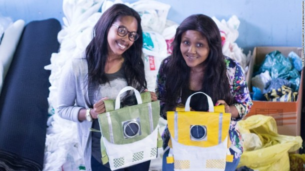 Photo Credit:Thato Kgatlhanye and Rea Ngwane started Repurpose Schoolbags Retrieved December 20,2015 from http://edition.cnn.com/2014/12/04/world/africa/repurpose-schoolbags-south-africa-rethaka/