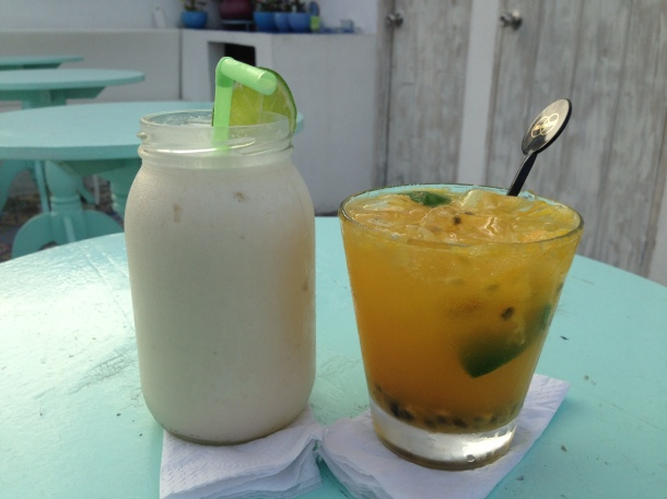 The Lemonade De Coco Y Ron and Passion Fruit Caipiroska from Malagana