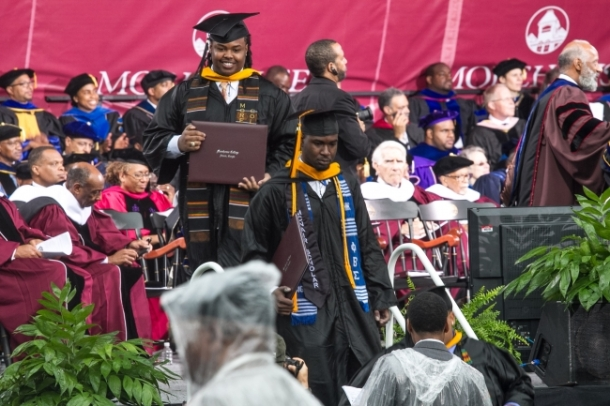 Morehouse College graduates Retrieved January 11, 2016 from www.rolloutmagazine.com