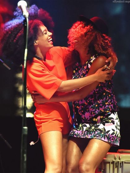 Beyonce and Solange. Source Eonline