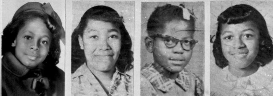 Photo Cred: 4 Little Girls from church bombing Retrieved: February 14, 2016 From http://www.nydailynews.com/news/justice-story/justice-story-birmingham-church-bombing-article-1.1441568