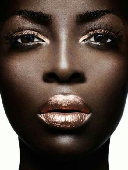 Untitled photo of dark skin makeup Retrieved January 30, 2016 from https://www.pinterest.com/pin/248472104412657419/