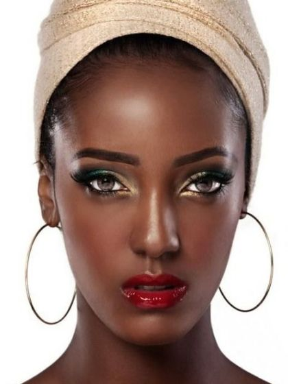Photo credit: Untitled photo of dark skin red lip makeup Retrieved January 30, 2016 from https://www.pinterest.com/pin/307441112032100136/