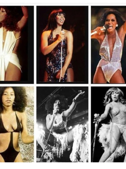 "Tina Turner, Diana Ross and other Black Female Artists in ""sexy"" outfits"