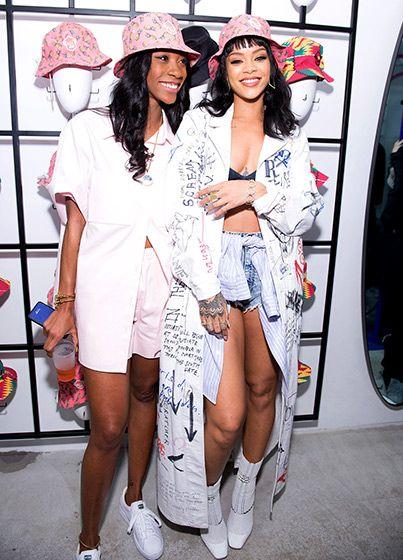Rhianna and Melissa. Source Eonline