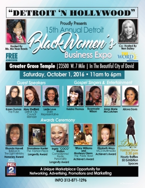 Detroit 'N Hollywood Proudly Presents The 15th Annual Black Women's Business Expo