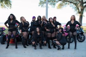 SQUAD DEEP: All-black Women's Biker Club Rocking NewOrleans.