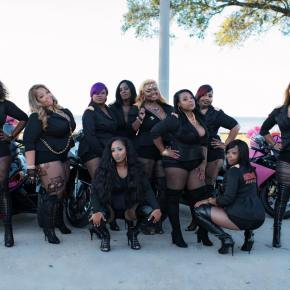 SQUAD DEEP: All-black Women's Biker Club Rocking New Orleans.