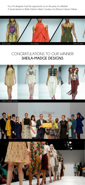 Sheila-Madge Announced As Winner of the Lufthansa 1st Class Collection at SAFW17 #SAFW17