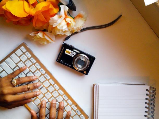 Black Girl Hands On Keyboard Chs