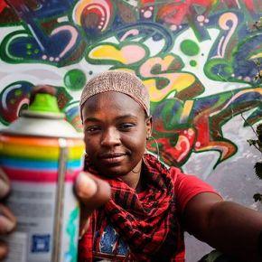 Senegal's First Female Graffitti Artist Is Taking NoPrisoners!