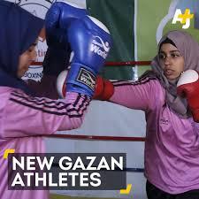 Palestinian women take upboxing